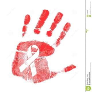 anti-hiv-ribbon-handprint-illustration-design-over-white-32162495