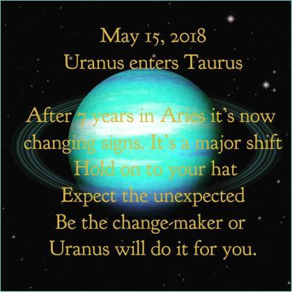 uranus into taurus
